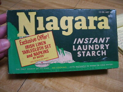 Vintage Retro 1960's Niagara Laundry Starch Soap Detergent Box