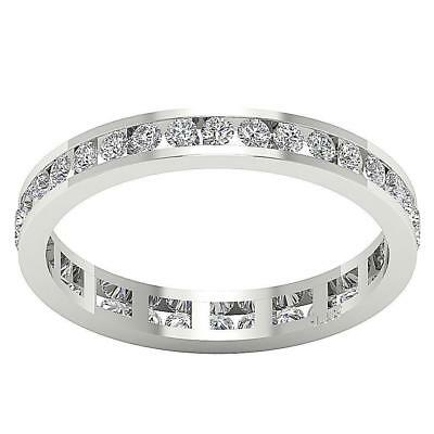 Eternity Stackable Natural Diamond Ring 0.80Ct 14Kt White Gold Appraisal SZ 4.50