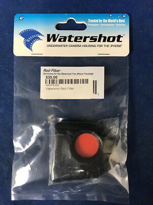 Watershot Red Filter WSIP4-005  Lens For Blue Water Color for iPhone Housing
