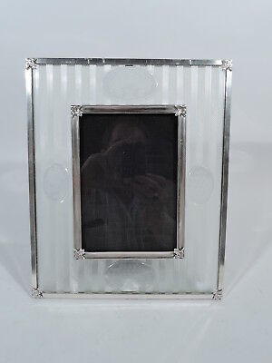 Hawkes Frame - Picture Photo Antique Edwardian - American Sterling Silver Glass