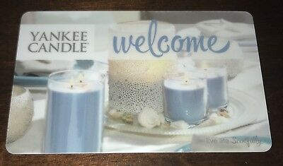"""Yankee Candle Us Gift Card """"welcome"""" No Value Collectible New"""