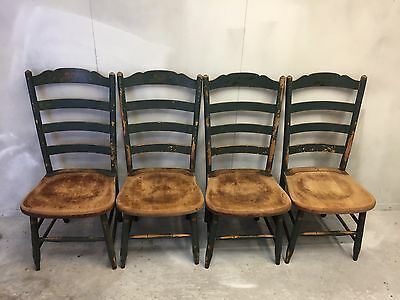 Vintage L. Hitchcock Side Chairs Stenciled