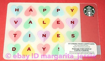 Starbucks Canada Gift Card Happy Valentine S Day Candy Hearts 2015