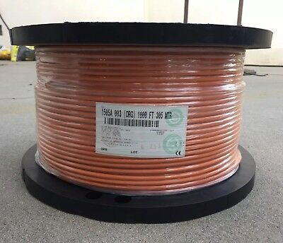 Belden 1505A 20 AWG Shield Coax Orange HD SDI Precision Video Cable 1000ft