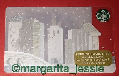 "Starbucks Us Gift Card ""white City"" New 2015 No Value 48 Series Collectible 6113"