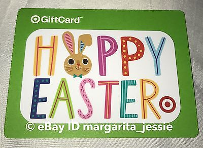 """Target 2017 Gift Card """"happy Easter"""" Bunny No Value New Collectible"""