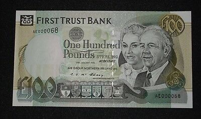 1994 FIRST TRUST £100 (AIB PBOI)  Belfast  Serial  AE000068   UNC  * LOW SERIAL*