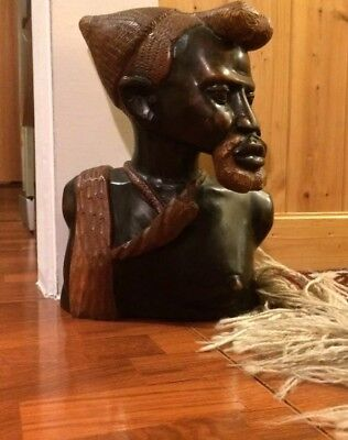 Large African hand carved Wooden , large Handmade  Wooden , Home Deco ,