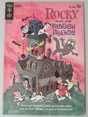 Rocky And His Fiendish Friends #1 Gold Key Comics Giant 1962 Bullwinkle