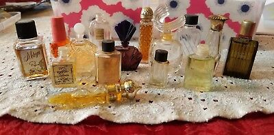Lot of 15 small vintage perfume bottles