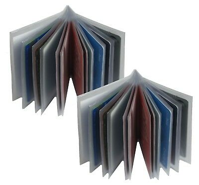 Set of 2 Heavy Duty Vinyl 12 Pages Insert for Bifold-Trifold Wallet MADE IN USA