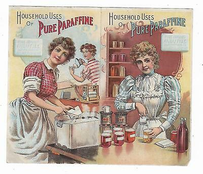 Trade Card PURE PARAFFINE Standard Oil Co Quillman Norristown PA Home Canning