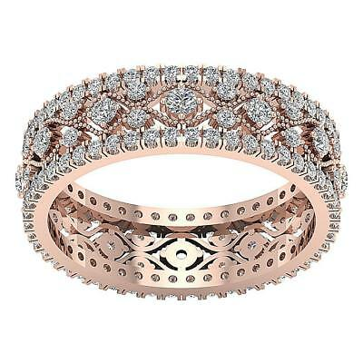 Real Diamond Eternity Anniversary Ring I1 H 1.90Ct Rose Gold 5.50grm Size 12.50