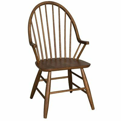 Bowery Hill Windsor Back Dining Arm Chair in Oak