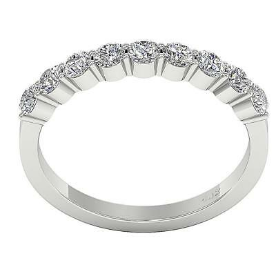 Natural Diamond SI1 H 0.81Ct Engagement Wedding Ring 2.82MM White Gold Size 4-8