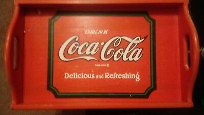 vintage coca cola wooden serving trays collectable