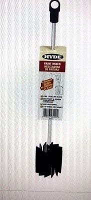 """Hyde 43420 Paint Mixer 11"""" length 1/4"""" Steel Hex Shaft for 1 Gallon Cans"""