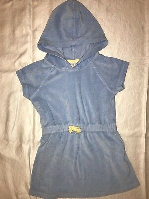 Hanna Andersson Blue Terry Hooded Swim Coverup - Size 100 3T 4T