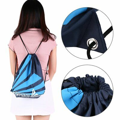 Super Strong Drawstring Gym Bag Backpack for Sports Swimming Beach School New IB