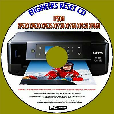 EPSON XP-520 PRINTER Waste Ink Pad Reset Disc New - £2 99 | PicClick UK