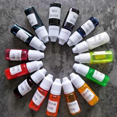 15 Colors DIY Resin Coloring Pearly-lustre Pigment Epoxy UV Dye Colorant Art 10g