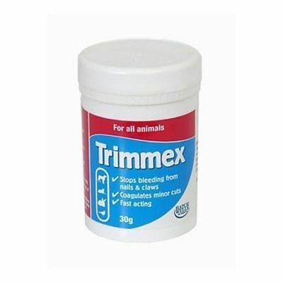 Hatchwells TRIMMEX Dog Cat Nails Coagulant Syptic Powder STOPS BLEEDING