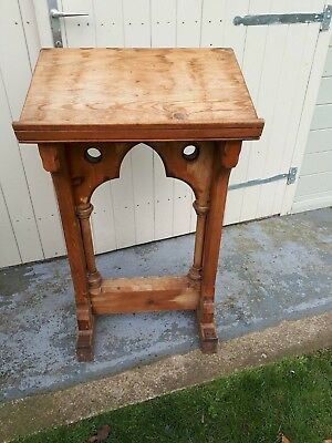 Church Lectern.Solid Pine.In need of some TLC