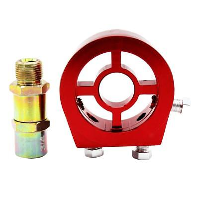 Car AN10 Oil Filter Relocation Cooler Sandwich Adapter Kit M20x1.5 3/4 Red