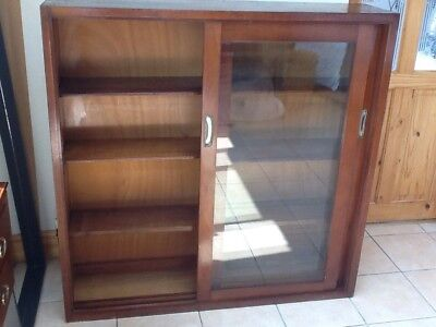 Vintage Oak Glass Fronted Book Case/Display Cabinet