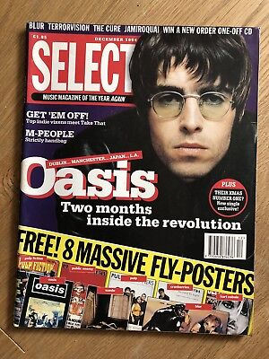 Oasis Interview Select Magazine Liam Gallagher Noel Gallagher 1994 Rare