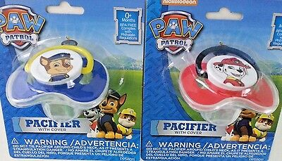 Set of 2 Paw Patrol Pacifiers With Cover Marshall//Chase