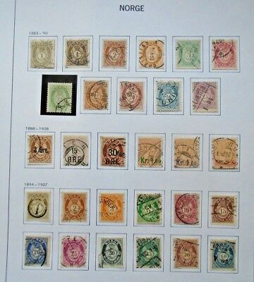 Lot 1883-1907 All Stamps Vf Used Norway Norge Norwegen B50.14 Start 0.99$