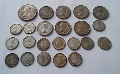 Lot of (23) SILVER Canada Coins - Canadian Silver Coins