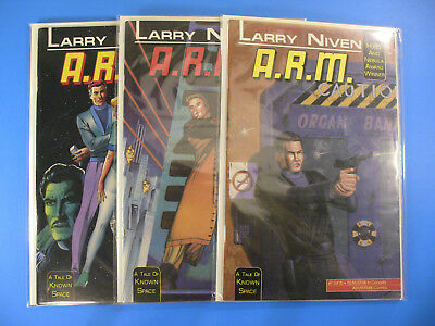 Larry Niven A.R.M. Complete #1, 2, 3 NM ~ A tale of Known Space, 1990