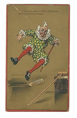 Old Trade Card Dobbins Electric Soap Cragin Pantaloon Spectacles Slipping #6