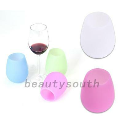 1x Unbreakable Silicone Drinking Cup Glasses Squishy Glasses Beer Wine Drinkware