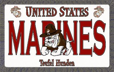Marine Devil Dog - Magnetic Car Sign - 6in X 3.75in