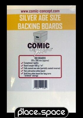 100 x SILVER AGE SIZE COMIC BACKING BOARDS (COMIC CONCEPT)(YELLOW)
