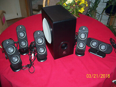Logitech X-530 5.1-Channels Dolby Digital PC Surround Sound Speakers