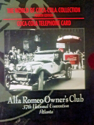 5 Coca-Cola-ALFA ROMEO-limited Edition Phone Card-Still in Factory packaging