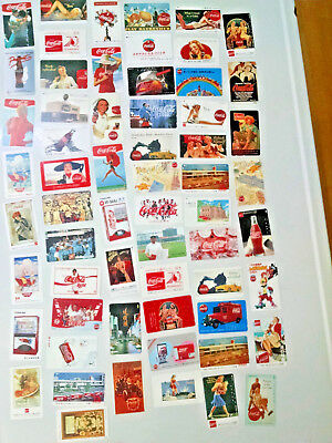 HUGE lot of 61 Coca-Cola Phone Cards-for Card/Coin Telephones Japan-(Expired)