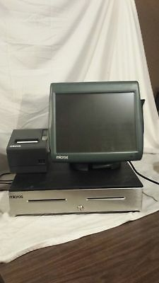 MICROS POS Workstation 5A Work Station 400814-101 Drawer Printer System WS5A