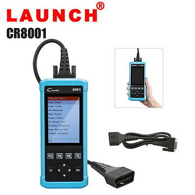 LAUNCH Creader CR8001 OBD2 EOBD Diagnostic Scanner Tool EPB ABS SRS Oil Reset