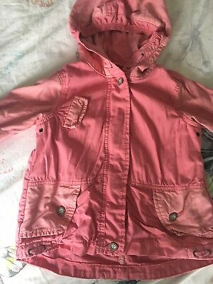 ff5dc9195 NEXT BABY TODDLER Girl s Lightweight Pink Unlined Parka Jacket 1.5-2 ...