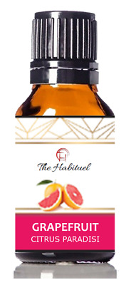 GRAPEFRUIT  Essential Oil 100% Pure Natural Undiluted 10ml Glass Amber Bottles