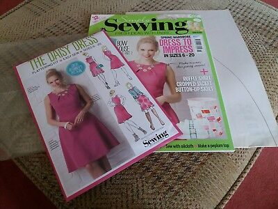 Simply Sewing Magazine Issue 15 with free pattern and template pattern