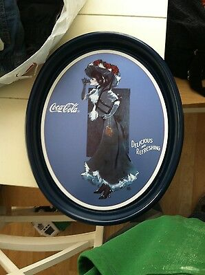 Coca Cola 1912 Calendar Girl Metal Serving Tray 1991 Advertising Coke Brand