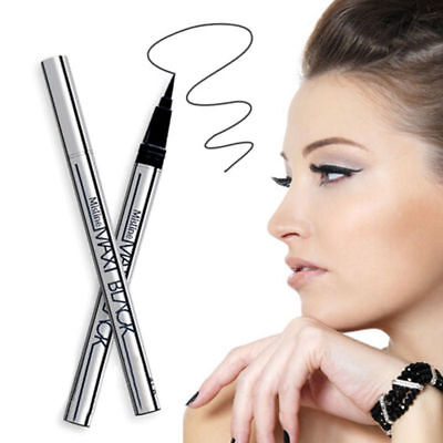 MAX BLACK Eyeliner Pen - Waterproof Liquid Pencil Eye Liner - Make Up Cosmetic