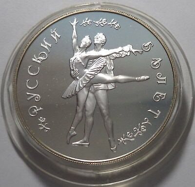 Russia 1994 25 Rubles Russian Ballet Proof Silver Ag 900 155.5g 5 oz ASW