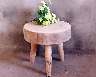 Handcrafted Rustic Wooden Stool, Gardening Wood Stool, minimalist Wood Table